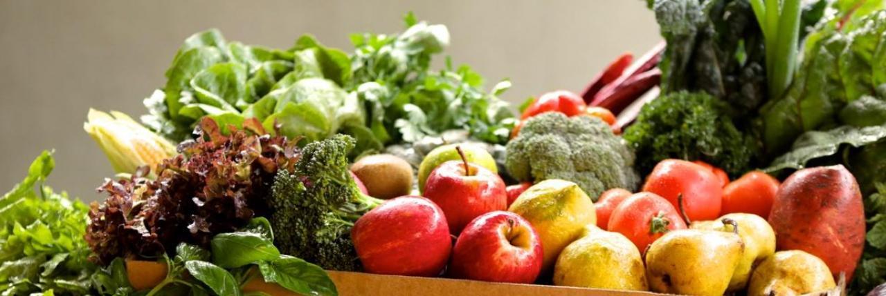 Deliciously fresh fruit and veggies seasonably available